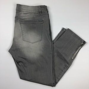 White House black market grey skimmer 12 jeans